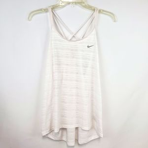 Nike Sheer Dri Fit strapy tank top white Medium
